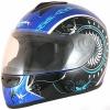 Шлем Michiru MI 136 интеграл сине-черный с белым р. S