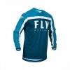 Джерси FLY RACING F-16 синяя/голубая/белая (2020)  L