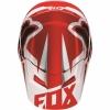 Козырек Fox Racing V1 бело-красный р. 2XS\S