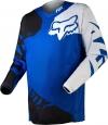 Джерси Fox 180 Race Jersey Blue сине-белая р.L