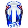 Козырек Fox Racing V1 сине-белый р. M\L