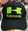 Бейсболка Kawasaki черно-зеленая