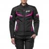 Куртка текстильная MOTEQ ASTRA, женская, черно-розовая р.S
