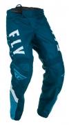Мото штаны FLY RACING F-16 синие/голубые/белые (2020) р.30